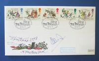 ROYAL MAIL 1993 CHRISTMAS FDC SIGNED BY IAN BOTHAM : NO 11/15 ONLY DONE