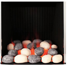 GAS Fire Replacement Pebbles Universal Ceramic Stones Gas Coal Fires RCF UK***