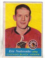 1957-58 Topps Hockey Card #24 Eric Nesterenko Chicago Black Hawks VG/EX.