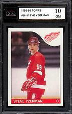 1985 86 TOPPS HOCKEY #29 STEVE YZERMAN KSA 10 GEM MINT DETROIT RED WINGS CARD