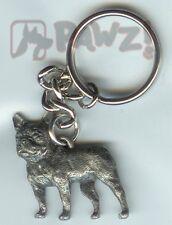 FRENCH BULLDOG Dog Fine Pewter Keychain Key Chain Ring Fob