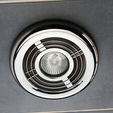 Bathroom Ceiling Light Kit Chrome Air Vent Grill Outlet Inlet Duct for Fan 4""
