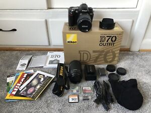 Nikon D70 DSLR Camera with Two Lenses