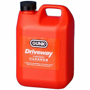 Gunk Driveway Cleaner Oil Grease Fuel Stain Remover Garage Floor Tarmac 2 Litre