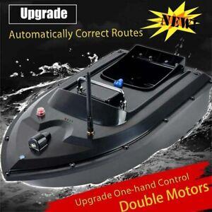 RC Fishing Bait Boat w/ 2 Motors Fish Finder 500M Wireless Single Hand Control *
