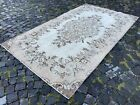Vintage rug, Turkish, Handmade rug, Area rug, Wool rug, Bohemian   4,8 x 8,3 ft
