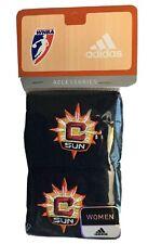 New! ADIDAS WNBA Connecticut Sun Blue Wristbands Sweat Basketball Tennis (PAIR)