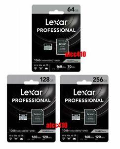 Lexar Professional 64GB 128GB 256GB 512GB Micro SD SDXC 1066x UHS-I U3 V30 A2