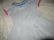 vguc Mini Boden gray stripe cotton dress girl 3 to 4 y free ship Usa