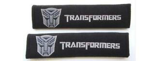 2x Embroidery Sport Transformer Cotton  Seat Belt Cover Shoulder Pad Cushion