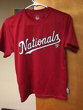 Washington Nationals Jersey T-shirt Majestic Youth Medium Cool Base Red MLB