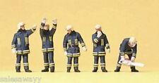Preiser 10486 pompiers,costume moderne,H0