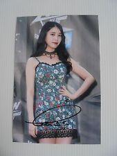 IU Lee Ji Eun KPOP Korean Actress 4x6 Photo Autograph hand signed USA Seller U