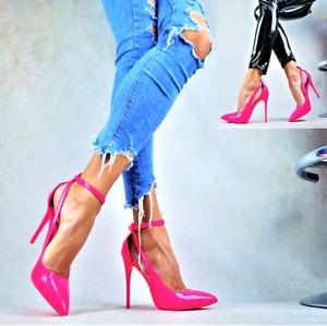 SUPER SEXY PUMPS ELEGANT Stilettos LACK NEON PINK Damenschuhe Party High Heels