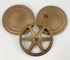 "Vtg Metal 8mm Movie Film Empty Reel 5"" - 200 Feet w/ Metal Storage Can/Case EUC"