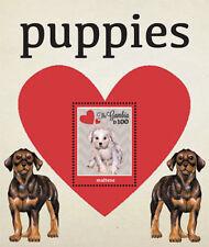Gambia 2012 - Puppies - Souvenir Sheet of 1 MNH