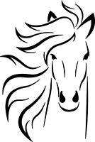 ADESIVO STICKERS PRESPAZIATO CAVALLO HORSE CASCO VETRO AUTO MOTO ANIMALI ANIMALS