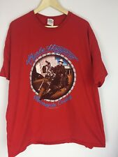Merle Haggard Motorcycle Cowboy 2002 Red T Shirt Men's Size 2XL