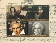 Madagascar 7719 - 2018  BEETHOVEN  perf sheet of 4 unmounted mint