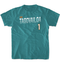 Tua Tagovailoa T-Shirt Miami Dolphins NFL Soft Jersey #1 (S-3XL)