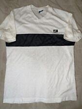 Nike Paper Thin 1970s 80s  T Shirt Black White Swoosh Vintage Size XL