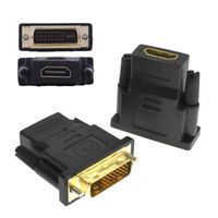 DVI-D Male (24+1 pin) to HDMI Female HD HDTV Monitor Display Adapter Converter