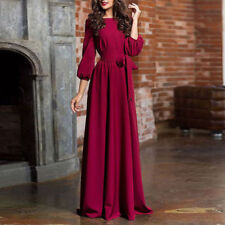 Women Long Sleeve Evening Formal Party Ball Gown Prom Bridesmaid Maxi Dress
