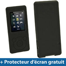 Igadgitz Noir Étui Housse Silicone pour Sony Walkman Nwz-e473 Nwz-e474 Nwz-e5...
