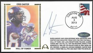 Cris Carter Authenticated Autograph Hall Of Fame Gateway Stamp Cachet Envelope