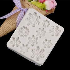 Snowflake Silicone Fondant Mold Cake Decorating tools Chocolate Gumpaste tool CA