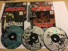 PS1 PLAYSTATION 1 GAME METAL GEAR SOLID Tactical Espionage + SPECIAL MISSIONS