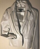 Stylish Women White Leather Jacket Pre-owned, Never Worn Arden B