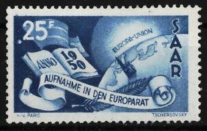 briefmarken saarland Mi.Nr. 297 ungebraucht (*), Plattenfehler