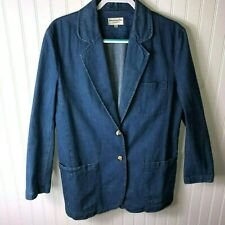 Abercrombie & Fitch Jean Jacket Blue Denim Blazer Women's Medium