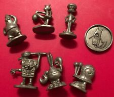 SpongeBob SquarePants Monopoly Game Replacement Pieces- Metal Tokens and Coin