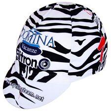 Rennrad Cap Vintage Specialized Zebra Cycling Caps Mütze Nalini schwarz-weiß