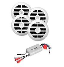 Enrock 4 Ch 800 Watt Waterproof MP3 Input Marine Power Boat Amp + 4 Speakers