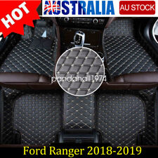 Custom Made 3D Floor Mats PU Leather Front + Rear Ford Ranger 2018-2019