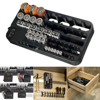 Battery Storage Case Organizer Tester Wall Mounted Drawer for Garage Home