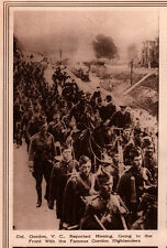 1914 ROTOGRAVURE COL GORDON NOW MISSING GOING TO FRONT WITH HIGHLANDERS