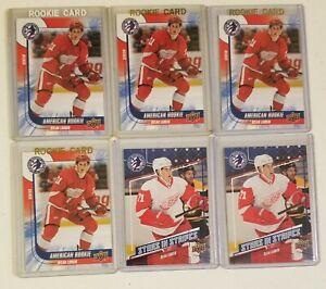 Dylan Larkin Rookie Detroit Red Wings Upper Deck 6 NHL hockey card lot