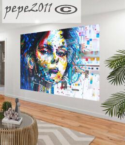 Canvas Print  Modern URBAN PRINCESS  Art Australia pepe painting