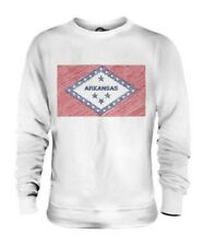 ARKANSAS STATE SCRIBBLE FLAG UNISEX SWEATER TOP GIFT ARKANSAN ARKANSAWYER