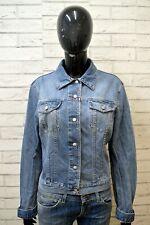 ICEBERG Giacca Jeans Blu Donna Taglia L Giubbino Jacket Women Blue Casual Cotone