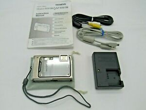 Olympus Stylus 1030SW 10.1MP Digital Camera - Silver w/ Charger Battery Cables+