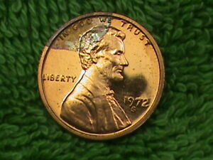UNITED  STATES   1 Cent   1972   PROOF   RAINBOW  TONED   A  .