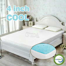 """New Listing4"""" Gel Infused Memory Foam Mattress Topper Pad Certipur-Us Certified +Free Cover"""