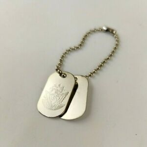 """1/6 Scale Hasbro 12"""" GI Joe Department Of The Navy Engraved Dog Tags Accessory"""