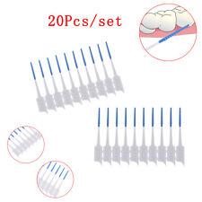 20x Interdental Brush Soft Rubber Teeth Clean Floss Pick Dental Oral Care TRDOI