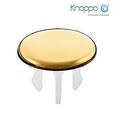 KNOPPO® Waschbecken Überlauf Abdeckung / Design Überlaufblende - Cap (gold)
